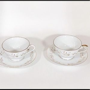 Joan By Summit Fine China Teacup and Saucer Set